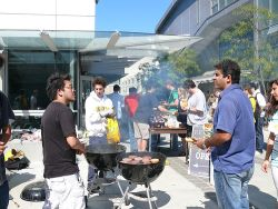 CS Students Enjoying a Barbecue